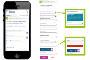Mobile Design - Teachers Pensions